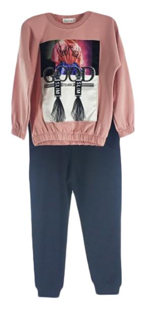 Комплект для девочек JANICOM цв. розовый р.134