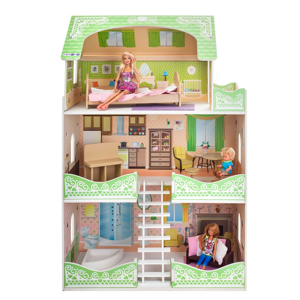 Кукольный домик Paremo луиза виф с мебелью фото