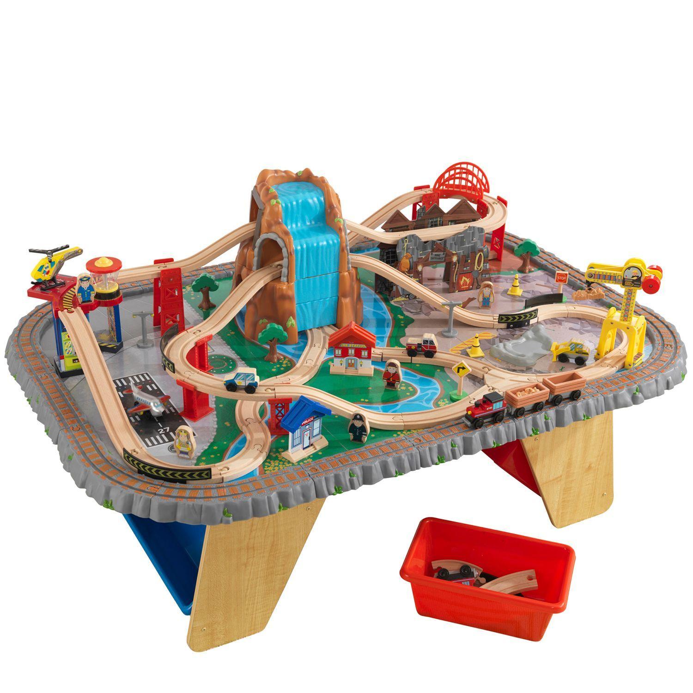 Игровой набор KidKraft Горный тоннель Waterfall Junction Train Set & Table