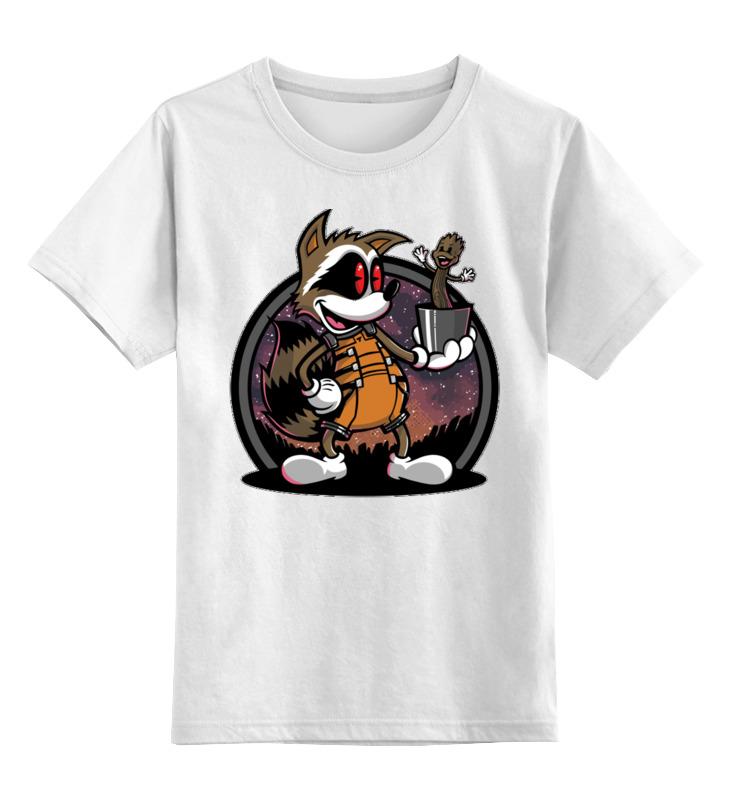 Детская футболка Printio Енот. цв.белый р.152 0000002629476 по цене 790