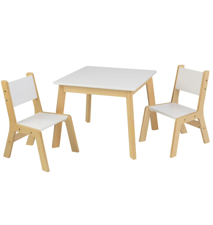 Детский игровой набор KidKraft стол и 2 стула Модерн белый