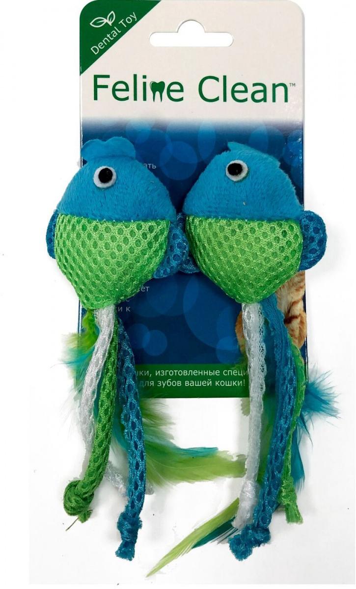 Игрушка для кошек Aromadog Feline Clean Dental Рыбки с лентами и перьями по цене 227