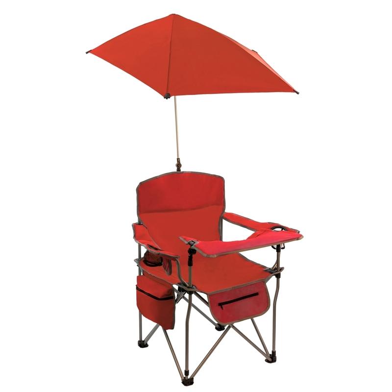 Кресло-стул Baziator 6260 с зонтом и столиком (100x62x60см) красный