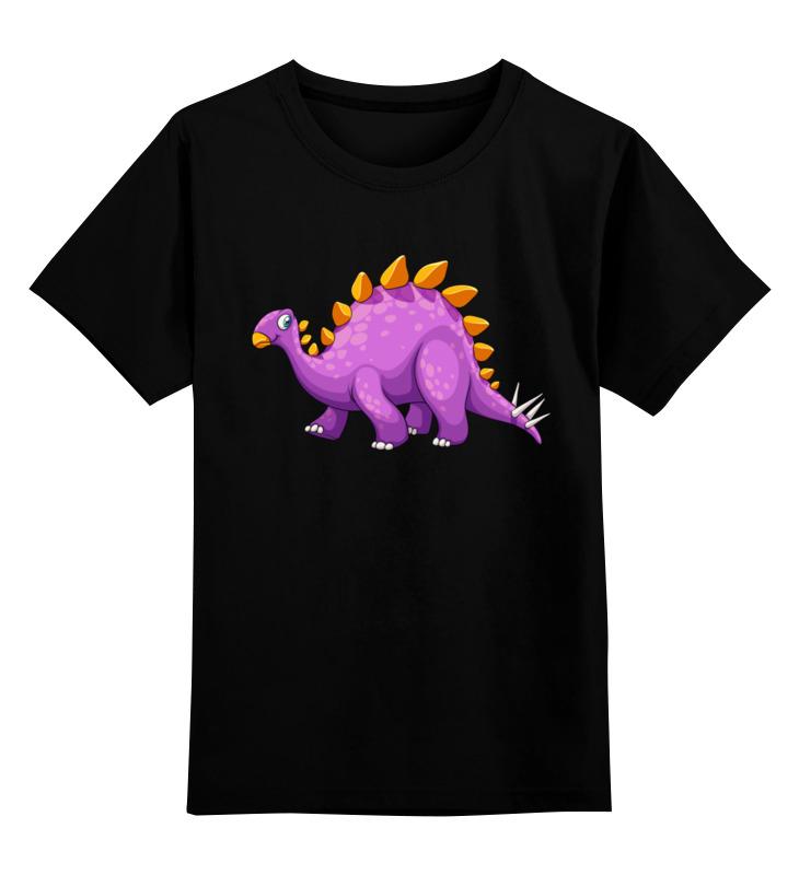 Купить 0000002672944, Детская футболка Printio Динозавр цв.черный р.152,