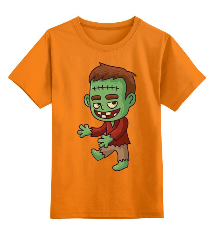 Купить 0000002722297, Детская футболка Printio Франкенштейн цв.оранжевый р.152,