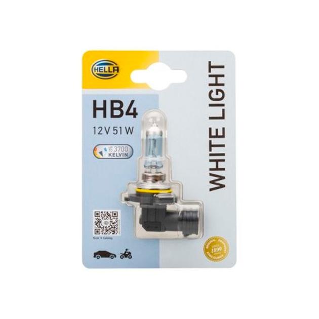 Лампа Hb4 12v 51w P22d Wl White Light (Блистер 1шт) HELLA 8GH 223 498-178