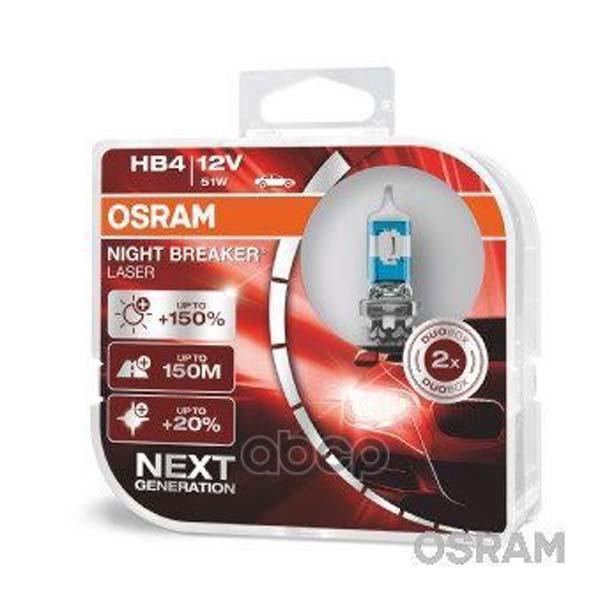 Лампа Hb4 51w 12v P22d Night Breaker Laser (Коробка 2 Шт) Osram 9006NL-HCB