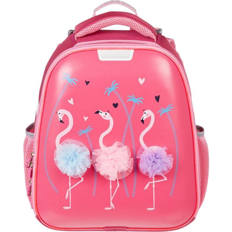 Ранец ортопедический №1 School Basic Flamingo (Экокожа)