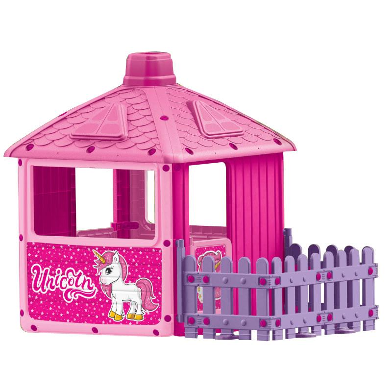 Купить Игровой домик DOLU для девочек с забором,