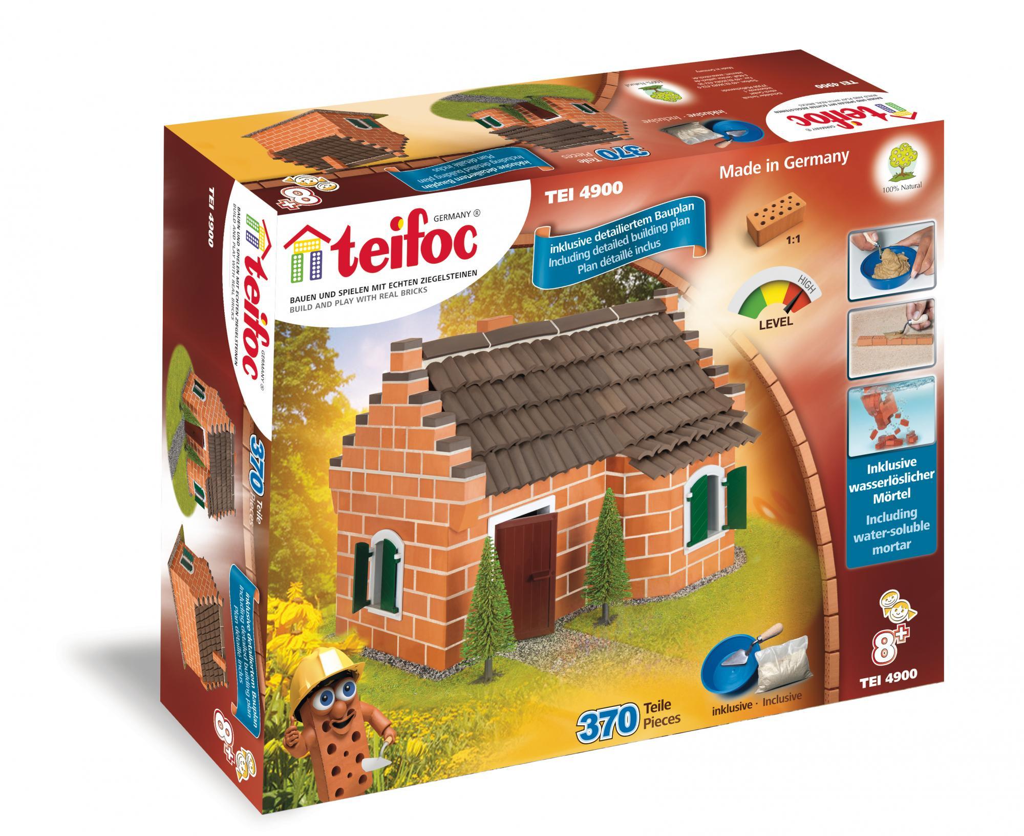 Купить Строительный набор Дом, 370 деталей, Teifoc,