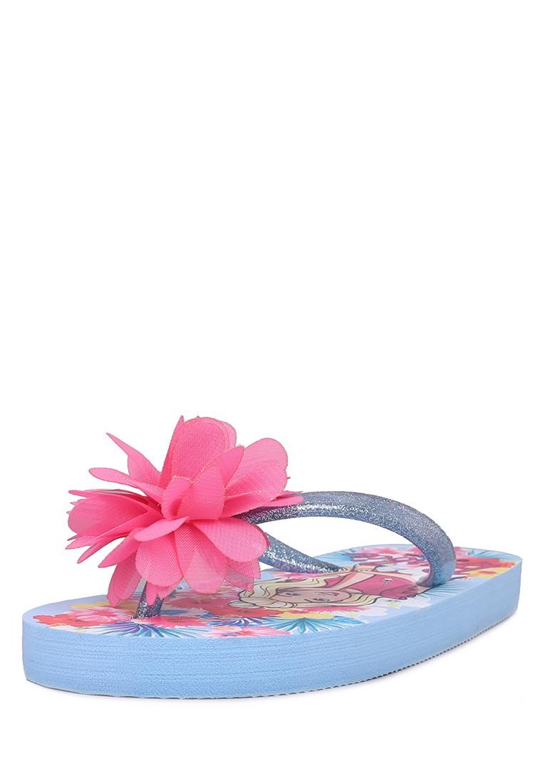 Сланцы детские Barbie, цв. голубой р.29