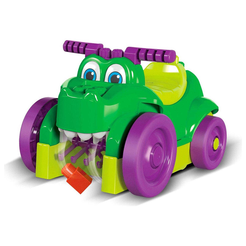 Машинка крокодил Mattel Mega Bloks для сбора