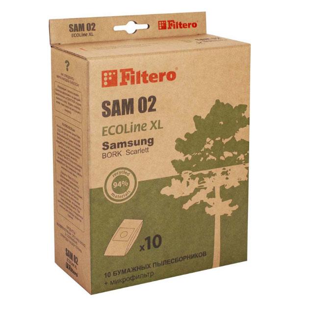 Пылесборник для пылесоса Filtero SAM 02 ECOLine XL 10 шт