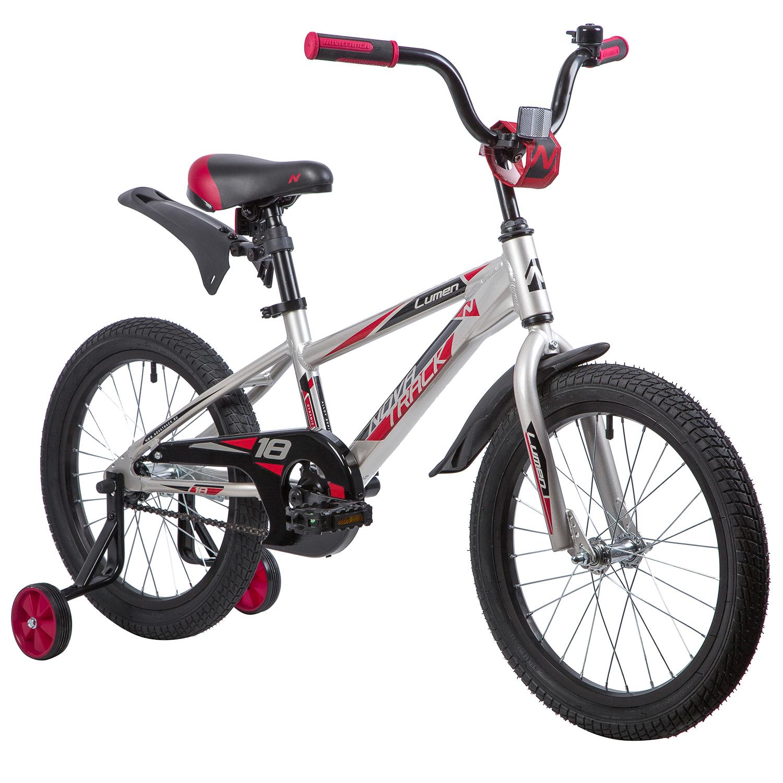 Велосипед Novatrack Lumen серебристый 18\