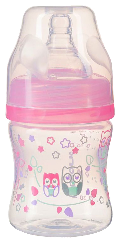 Бутылочка Babyono c широким горлышком цвет: розовый 120 мл