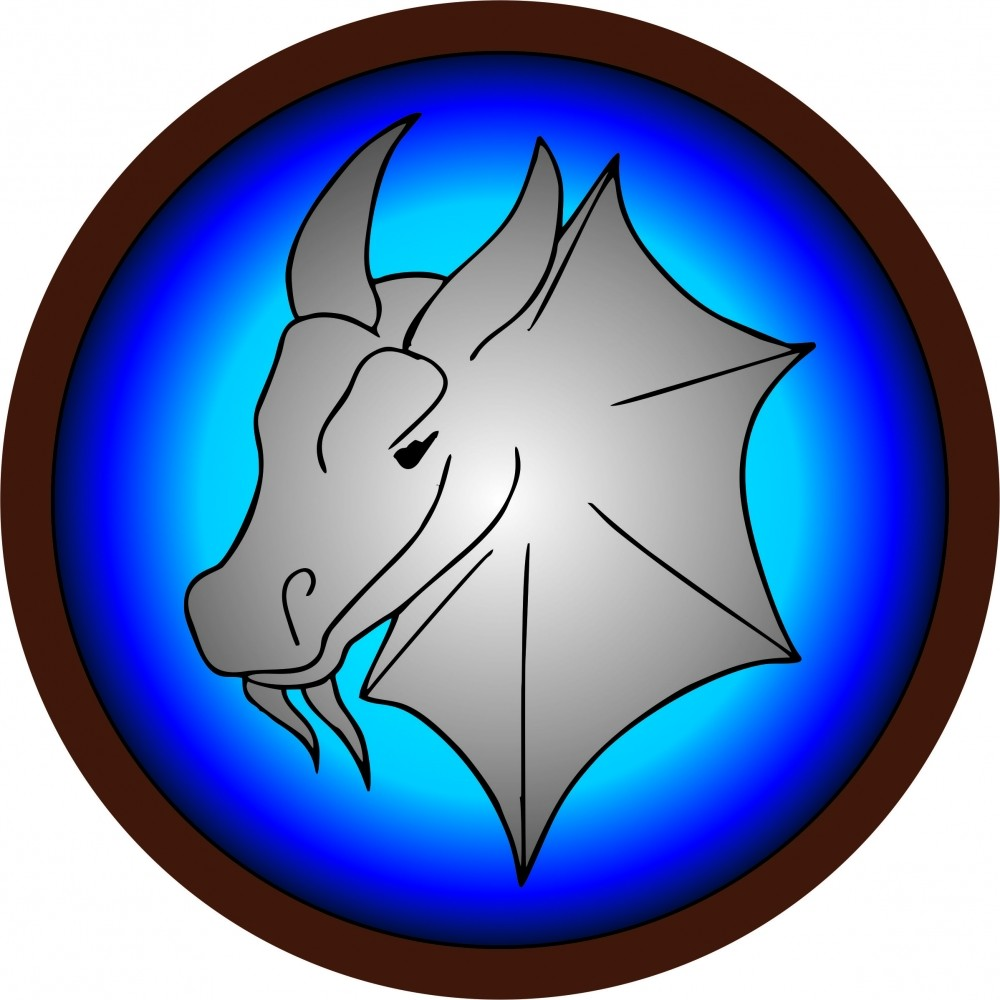 Круглый щит детский Дракон из дерева