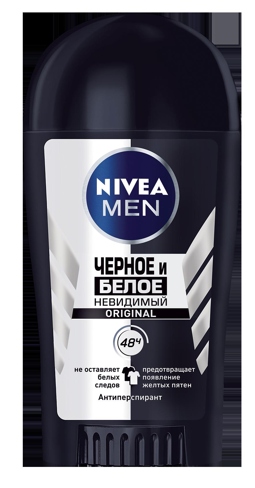 Купить Антиперспирант Nivea for Men Невидимый для черного и белого 40 мл, невидимый для черного и белого 40 мл