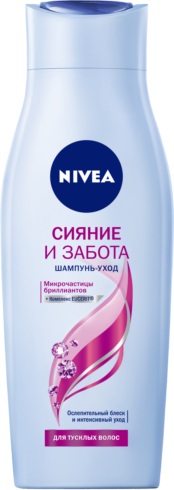 Купить Шампунь NIVEA Сияние и забота 400 мл, шампунь для женщин 81406
