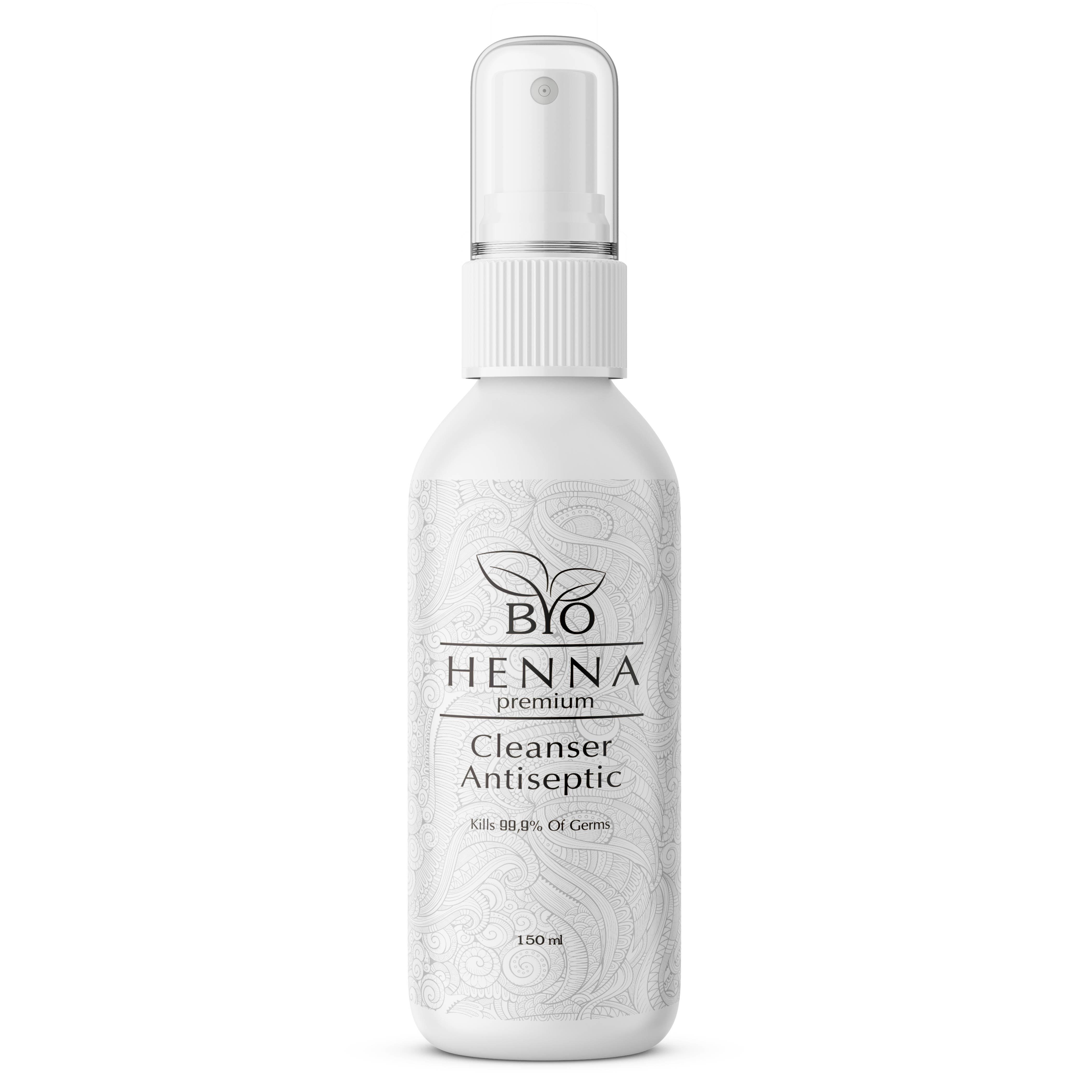 Антисептик-обезжириватель с дозатором Bio Henna Premium, 150 мл  - Купить