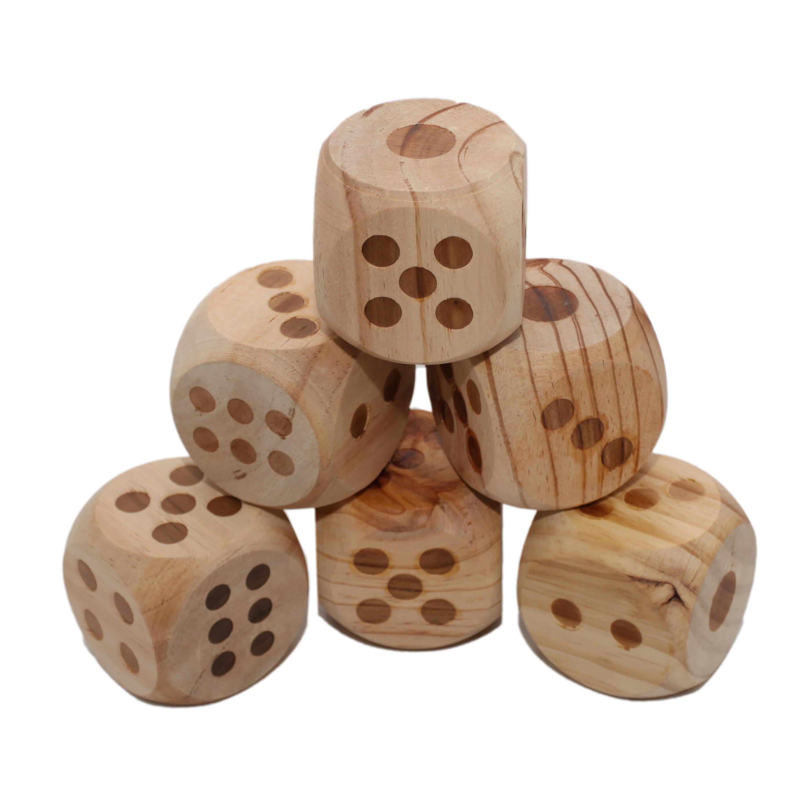 гигантские кубы дерево 6 штук