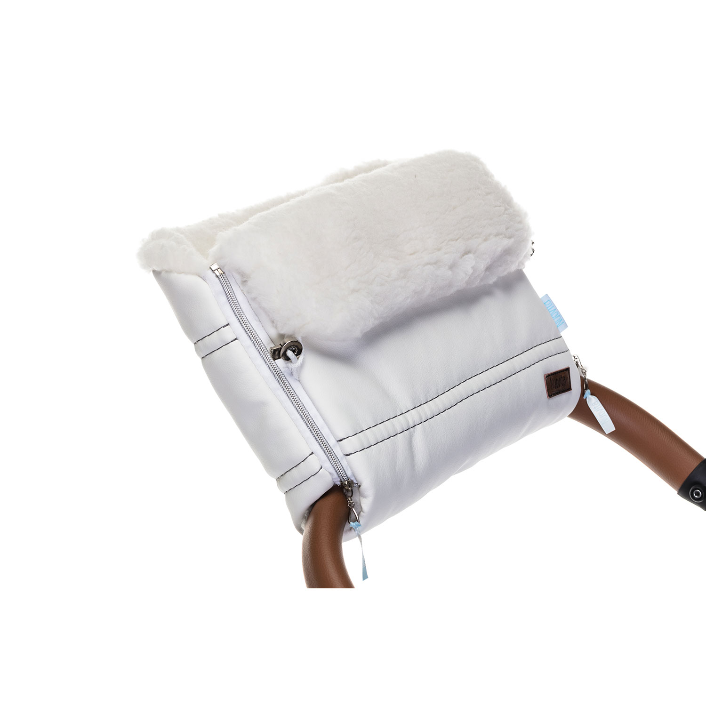 Купить Муфта меховая для коляски Nuovita Alpino Lux Bianco, цвет белый,