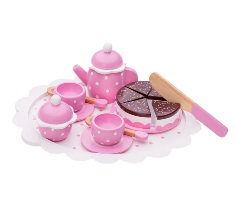 Набор для чаепития (розовый)