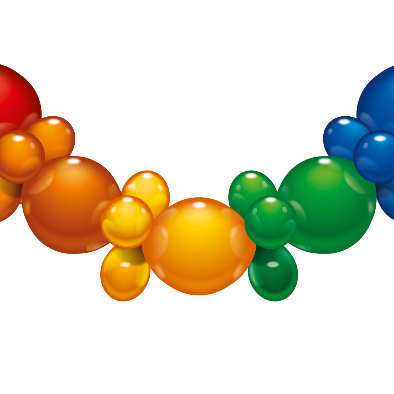 Гирлянда из шаров, 25 шаров, 1,75 м