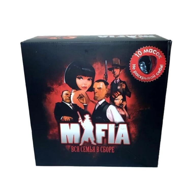 Купить Настольная игра Мафия Вся семья в сборе, в подарочный в коробке, wellywell,
