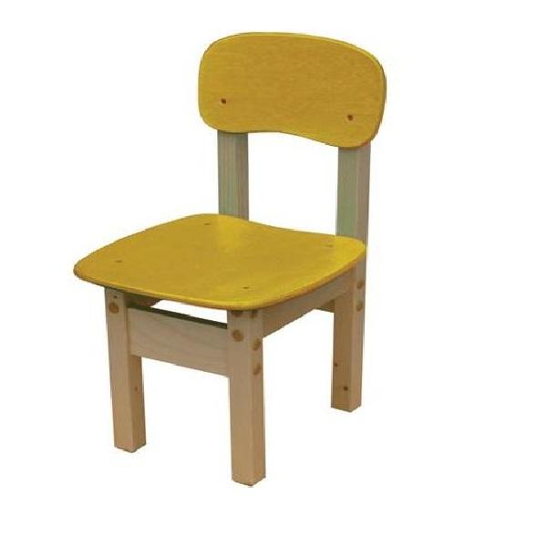 Стул детский Фабрика Мебели Яблочко-1 желтый