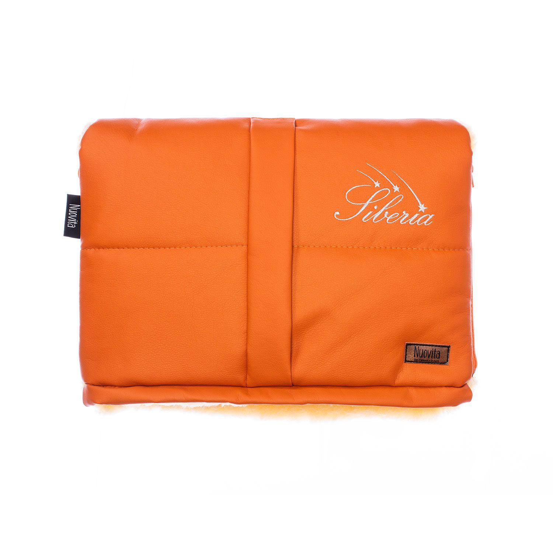 Муфта меховая для коляски Nuovita Siberia Lux Pesco оранжевый