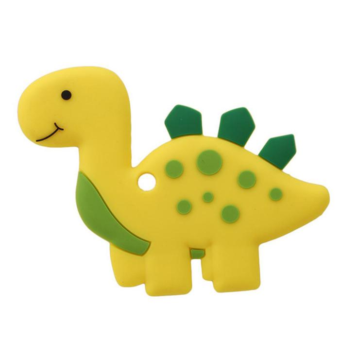 Прорезыватель для зубов Baby Fox Динозавр цвет желтый BF-TEETOY-18 фото