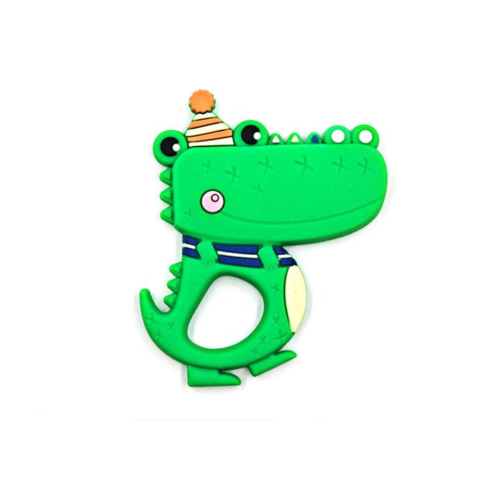 Прорезыватель для зубов Baby Fox Крокодил цвет зеленый BF-TEETOY-20