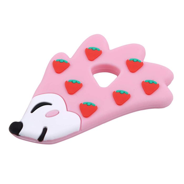 Купить Прорезыватель для зубов Baby Fox Ежик цвет розовый BF-TEETOY-21, Прорезыватели