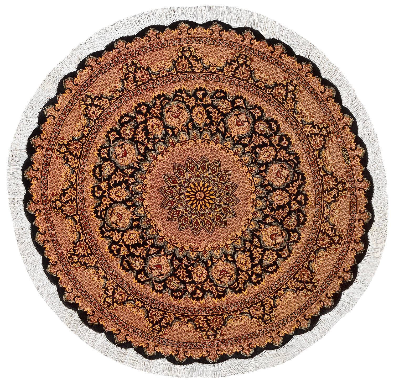 Круглый шелковый ковер ручной работы коллекции «Qom Ir» 50249, 100x100 см