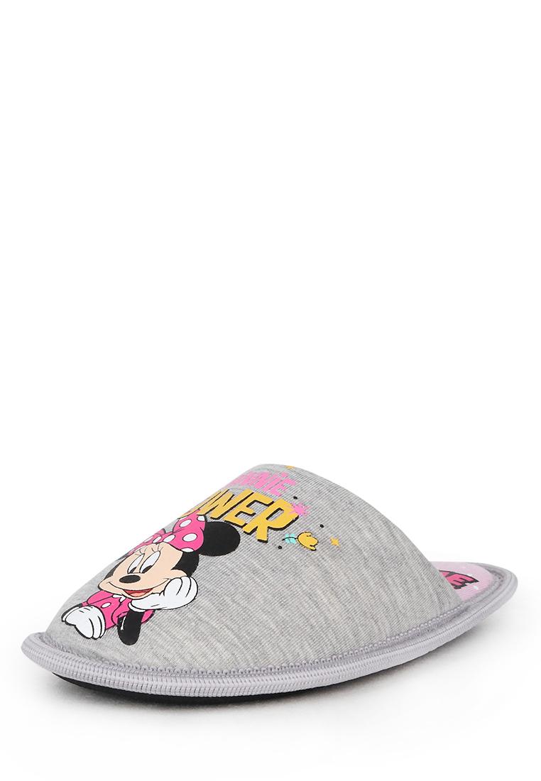 Тапочки детские Minnie Mouse, цв. серый р.28