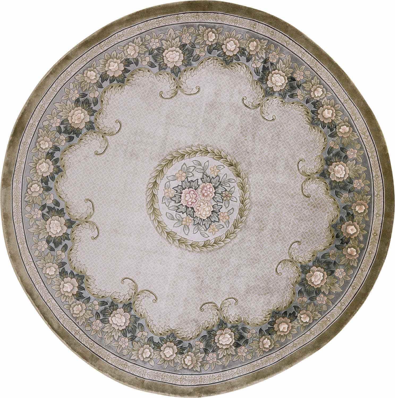 Круглый шелковый ковер ручной работы коллекции «Shanghai Silk» 37716, 200x200 см