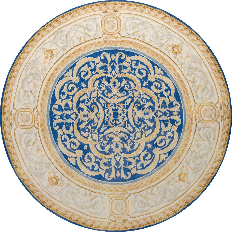 Круглый шерстяной ковер ручной работы коллекции «гобелен Aubusson» 31104, 200x200 см