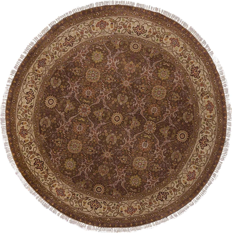 Круглый шерстяной ковер ручной работы коллекции «Hadji» 37508, 246x246 см