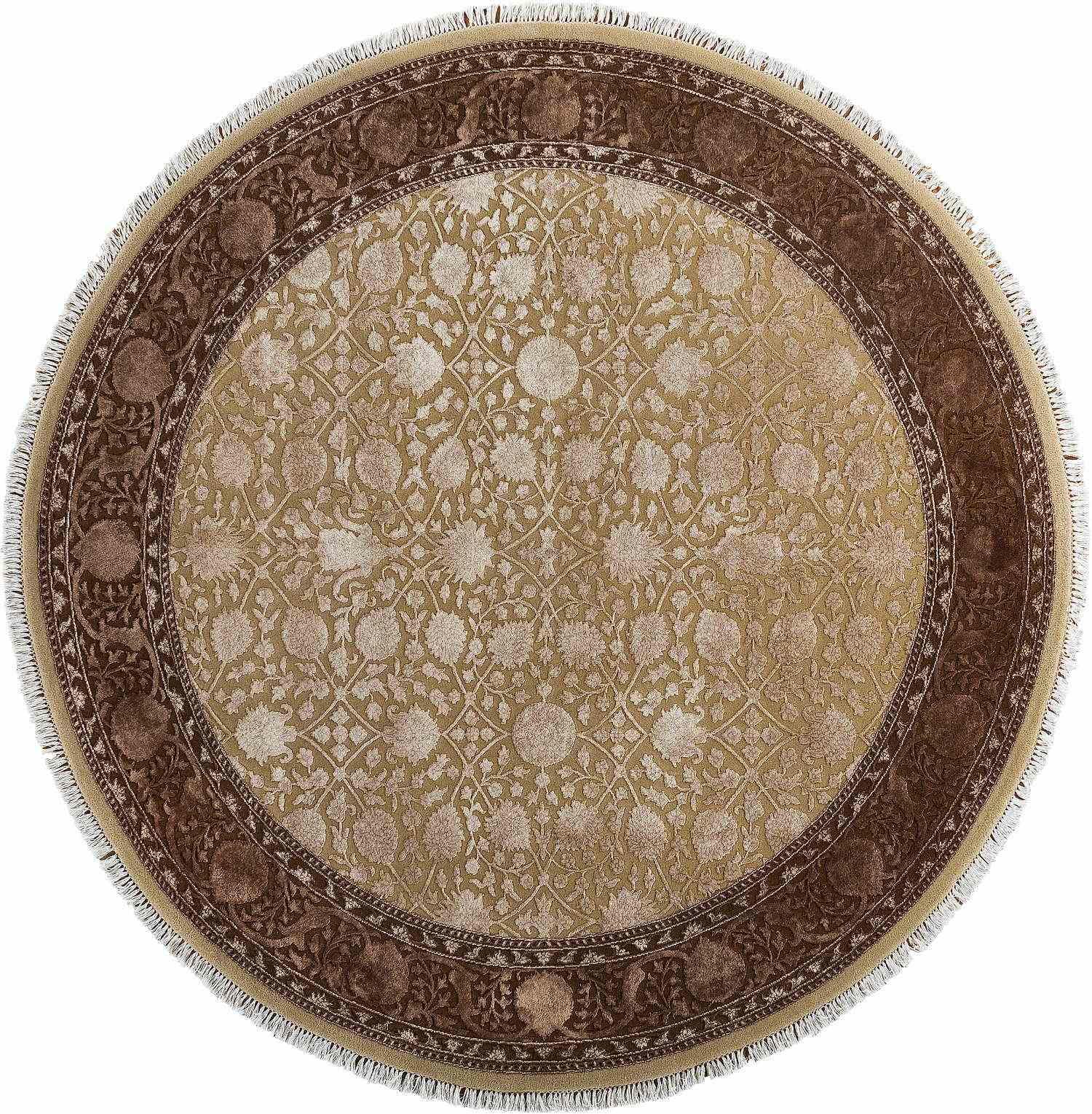 Круглый ковер ручной работы коллекции «King Of Agra» 48368, 201x201 см
