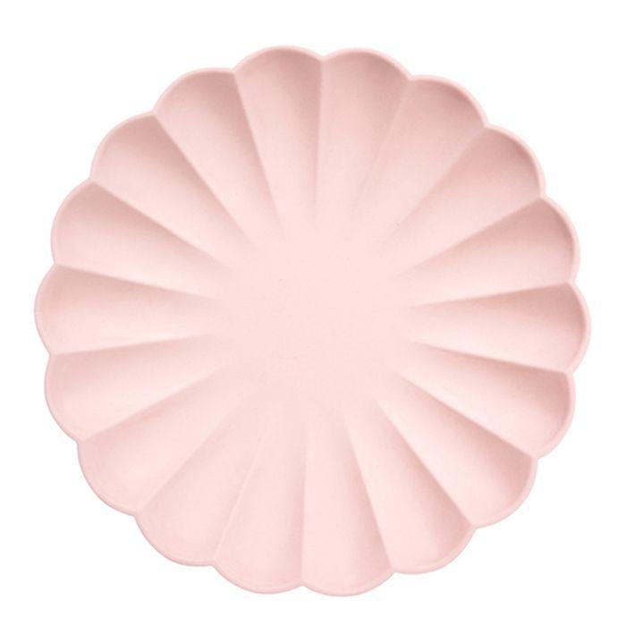 Набор тарелок Meri Meri Эко розовые большие