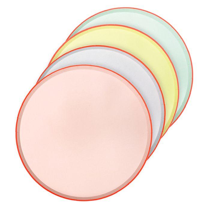 Набор тарелок Meri Meri большие пастельные