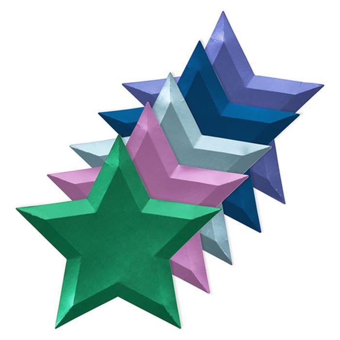 Набор тарелок Meri Meri Звезда, Металлик