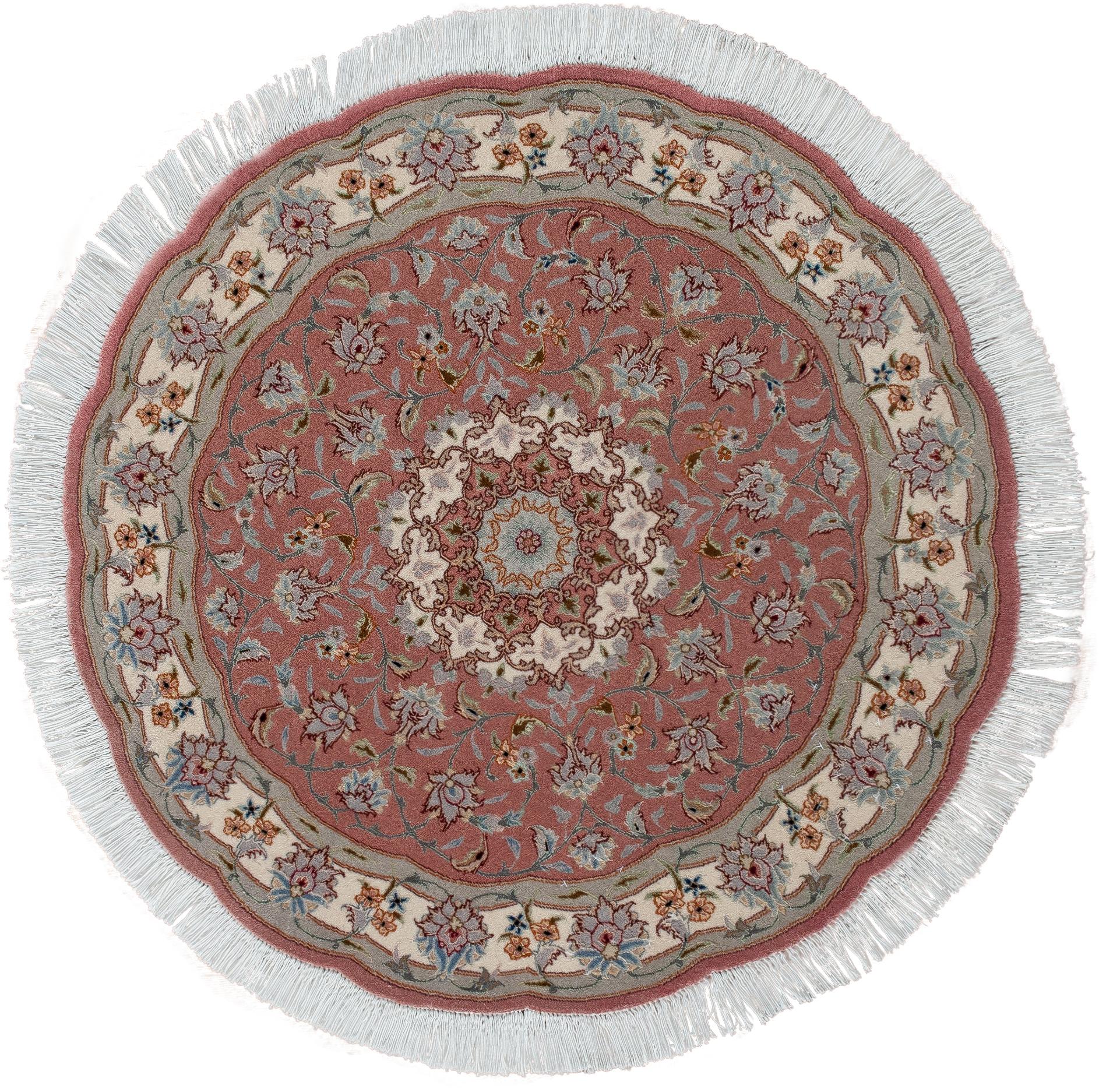 Круглый ковер ручной работы коллекции «Tabriz Ir» 54256, 100x100 см