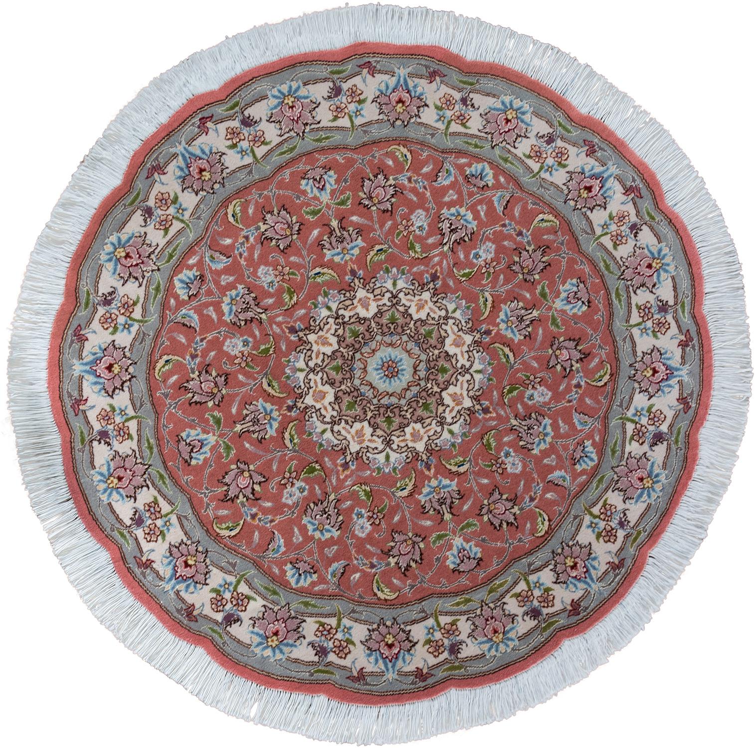 Круглый ковер  ручной работы коллекции «Tabriz Ir», 54262, 100x100 см