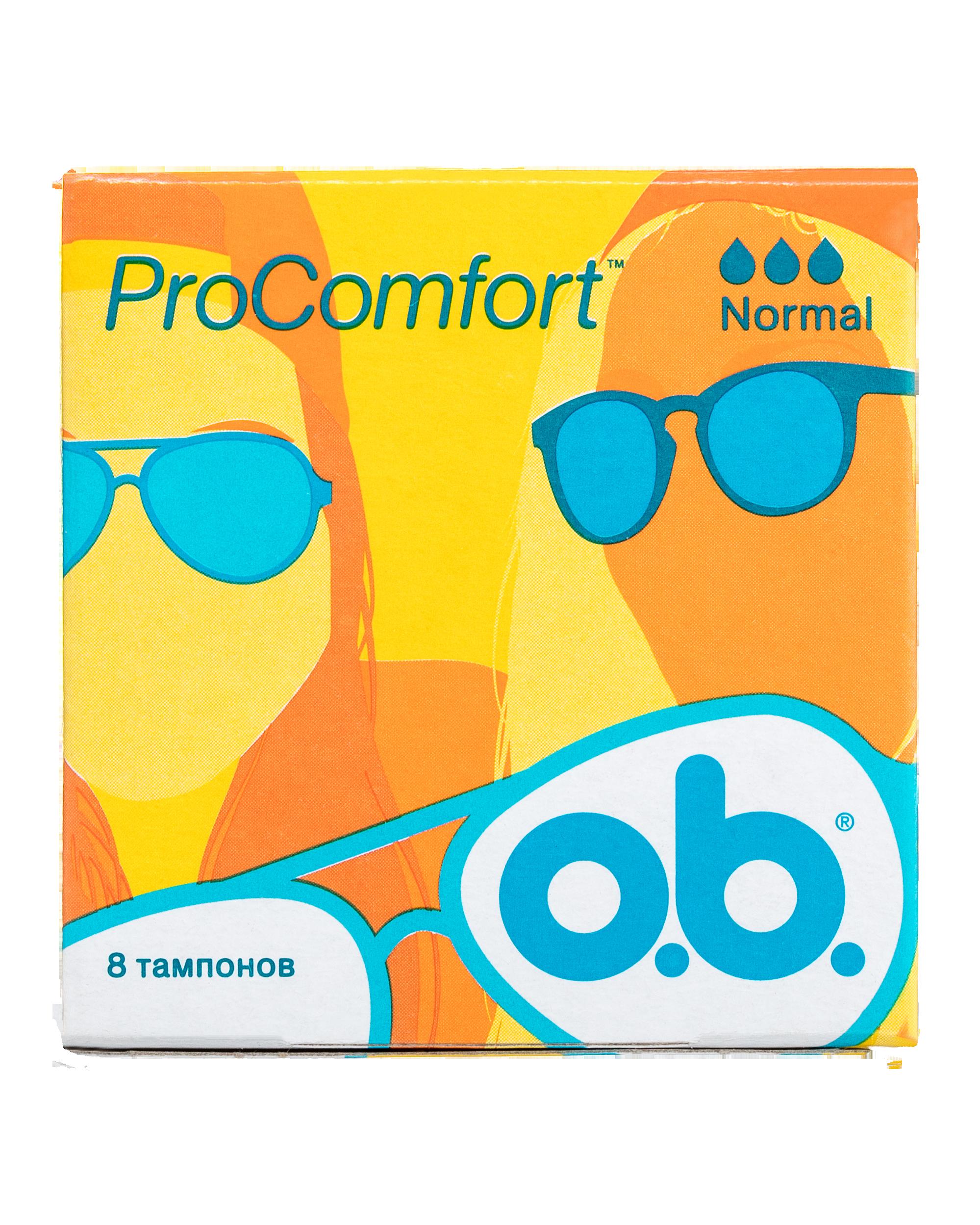 Тампоны o.b. ProComfort нормал 8шт