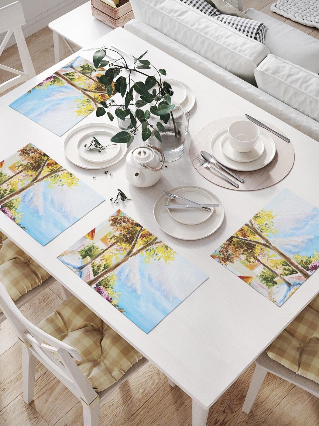 Комплект салфеток для сервировки стола «Дача у моря» (32х46 см, 4 шт.)