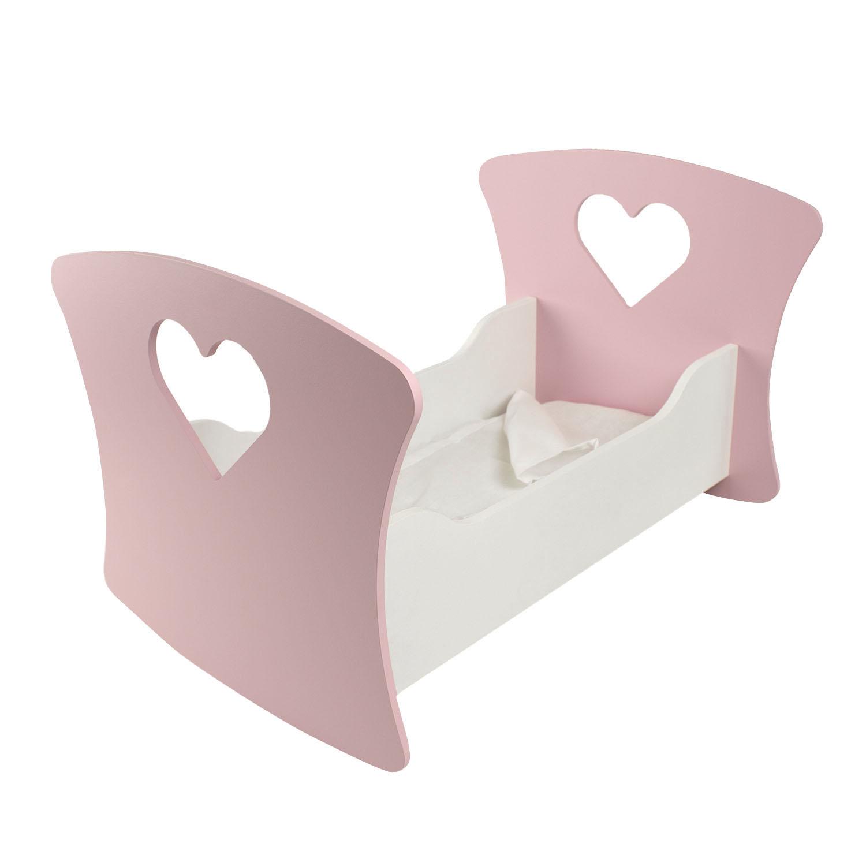 Люлька для кукол PAREMO Сердце, цвет нежно-розовый