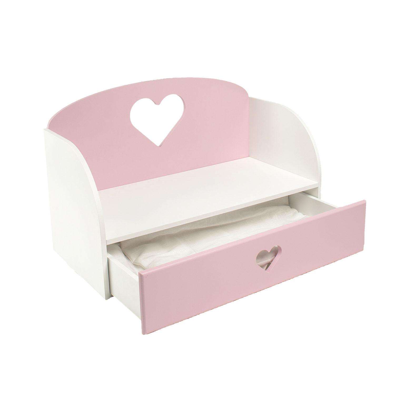 Купить Диван-кровать для кукол PAREMO Сердце, цвет розовый, Мебель для кукол