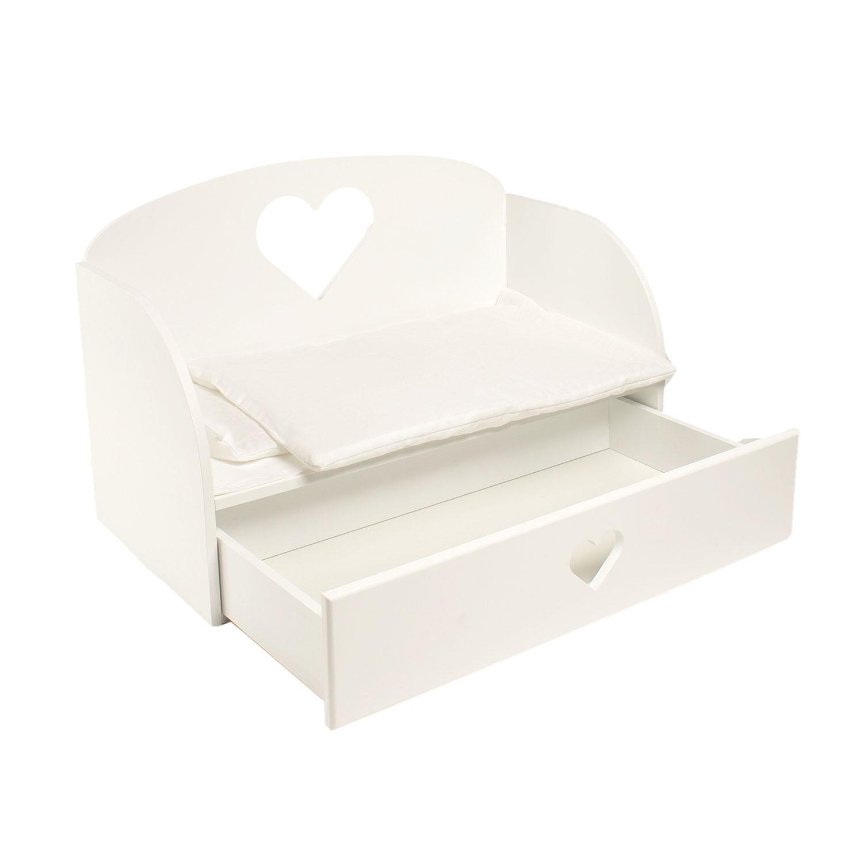 Купить Диван-кровать для кукол PAREMO Сердце, цвет белый, Мебель для кукол