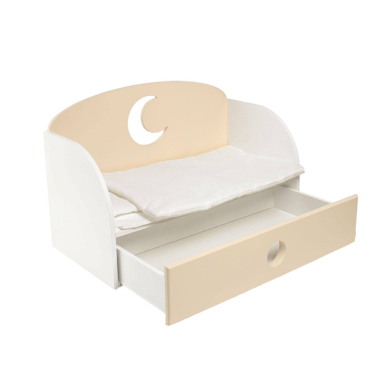 Купить Диван-кровать для кукол PAREMO Луна, цветбежевый, Мебель для кукол